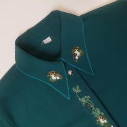 zielona koszula z grzybkami
